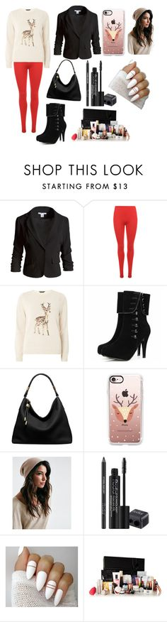 """Rising and Shining with Reindeers...🎅🎅🎄🎄"" by chanchalbijarnia ❤ liked on Polyvore featuring Sans Souci, WearAll, Dorothy Perkins, Michael Kors, Casetify and Rodial"