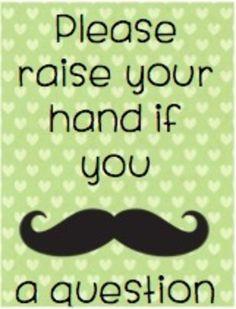 Mustache poster set