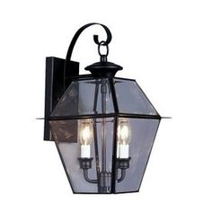 Livex Lighting�Westover 16-1/2-in Black Outdoor Wall Light