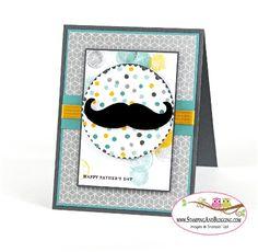 Stampin Up Mustache framelit