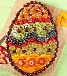 Easter Inspiration Egg Shaped Fruit Pie Or Plater Food Hoppy