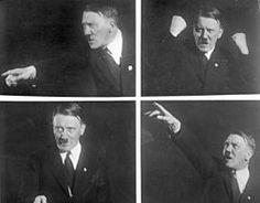 Hitler harjoitteli puhumista kuvien avulla.