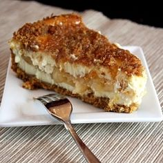 Dutch apple cheesecake covered with streusel and caramel!!