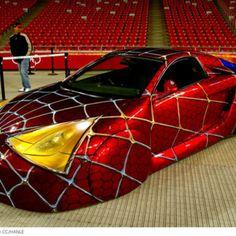 Spiderman Car car with unique paint Weird Cars, Cool Cars, Spiderman Car, Spiderman Theme, Batman, Carros Lamborghini, Car Paint Jobs, Rc Autos, Unique Cars
