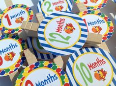 1st Year Photo Clips  Babys First TV by EmeraldCityPaperie on Etsy, $18.00