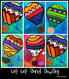 PAINTED PAPER: Up, Up and Away! A lesson about lines