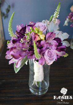 toss bouquet- with eucalyptus