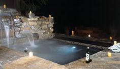 hot tub with a beautiful mountain view...perfect