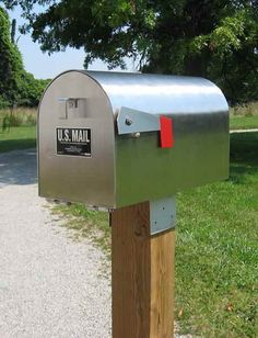 images mail box mounted on a post - Google Search