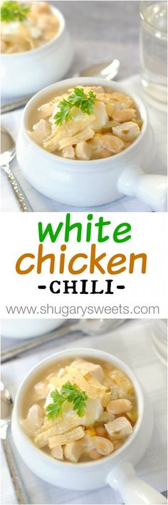 Give this low fat White Chicken Chili a try next time you're craving delicious comfort food!