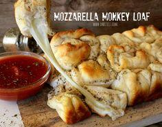 Man, this looks amazing! ~Mozzarella Monkey Bread!