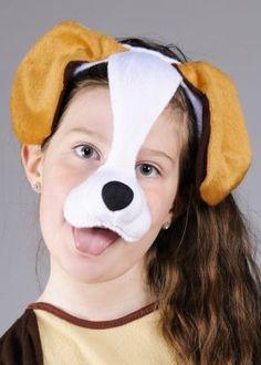 Childrens Headpiece Dog Mask On Headband