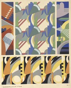 ryersonlib:  Kaleidoscope: Ornament AbstraitsA portfolio of 87 motifs in 20 plates, designed by Maurice Pillard Verneuil, pochoir printing by Jean Saude, published by Editions A. Levy in Paris in the 1920s.