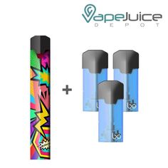 """Bo One Pod System Starter Kit by Bo Vaping is """"Closed System"""" Device refers to a specific type of Electronic Cigarette. These devices uses an E-Liquid reservoir that is both non-refillable and disposable. Bo Pods contain 1.6mls of Flavored E-Liquid Add Compatible Bo Vaping Caps (Pods) and SAVE!"""
