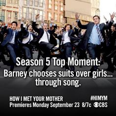 HIMYM ~ Top Moments ~ Season 5 ~ Barney chooses Girls over Suits! :D