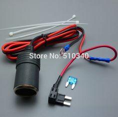 1M 1.5mm2 Car Cigarette Cigar Lighter DC12V Extension Mini Fuse Tap Holder Lead