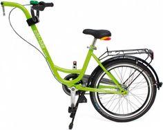 De add+bike van Roland is een stabiele stalen aanhangfiets. Vanaf 4 jaar. Te koop bij Tuub.