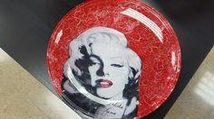 plato de Marilyn  con decoupage