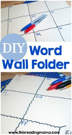 DIY Word Wall Folder ~ SO easy to make and portable for kids to use during writing time ~ | This Reading Mama