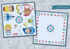 Cinderella biscornu cross stitch pattern by cloudsfactory