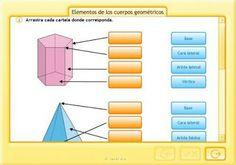 Identifica los elementos  de los cuerpos geometrícos