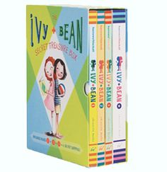 Chronicle Books : Ivy + Bean series by Annie Barrows, illustrated by Sophie Blackall.  Ivy & Bean didn't like each other at first.  Ivy was bookish and quiet, while Bean was funny and crazy and very social.  But they become best friends anyway, and all sorts of craziness ensues.  My 6-year-old loves these books.  We read them together, and because they're so funny, my 4-year-old likes to listen in.