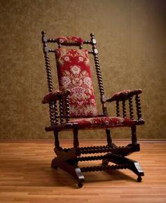 Antique Wisconsin Chair Company Glider Rocker Rocking