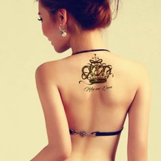 1PC The Luxury Crown Tattoo Lettering Style Temporary Tattoo Sticker For Body Sex Products Women Men Fake Tatoos Transfer Beauty|5b577bb3-412d-4274-85ca-c33991ab699d|Temporary Tattoos