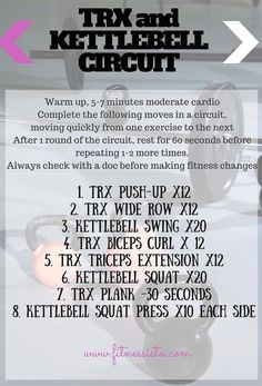 This TRX/Kettlebell workout is quick but intense, perfect for the busy holiday season! #GetMoving