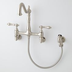 Felicity Wall-Mount Kitchen Faucet with Side Spray - Brushed Nickel