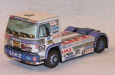 This vehicle paper model is a LIAZ a truck made by LIAZ company in Czechoslovakia, later Czech Republic, the papercraft is created by Mini-Zenit. Cardboard Toys, Paper Toys, Paper Crafts, Paper Magic, Graffiti Lettering, Paper Models, Free Paper, Fire Trucks, Czech Republic