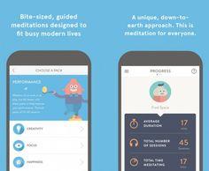 O aplicativo Headspace  é dividido em níveis - ele organiza uma série de atividades pro dia-a-dia como respiração, percepção do corpo e relaxamento muscular! É gratuito e disponível pra Android e IOS