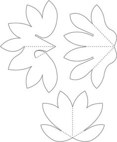 Lotus pop-up card. Download and print template, trace to