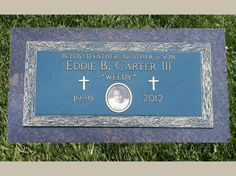 Bronze Flat Marker Headstone with Cameo Portrait