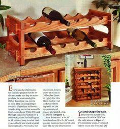 Stacking Wine Rack Plans - Furniture Plans