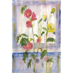 "Marmont HIll Window Sill Painting Print on Wrapped Canvas Size: 45"" H x 30"" W x 1.5"" D"