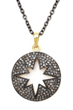 Pave Diamond Star Cutout Disk Necklace - 4.42 ctw by Jewels By Lori K on @HauteLook
