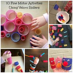 Fine Motor Skills Activities Ideas Using Velcro Rollers. What a fun, inexpensive item for kids to explore to encourage fine motor skills development! Preschool Fine Motor Skills, Fine Motor Skills Development, Motor Skills Activities, Gross Motor Skills, Infant Activities, Preschool Activities, Preschool Kindergarten, Toddler Preschool, Physical Development