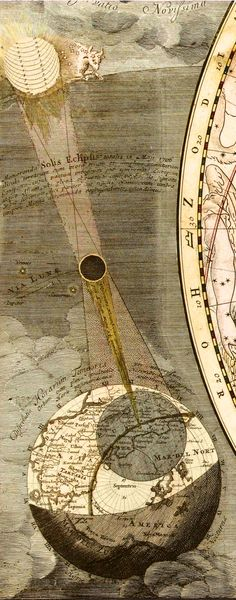 Travel Through Time With These Strange and Beautiful Visualizations of the Universe | A depiction of a total eclipse that occurred on May 12, 1706. Courtesy the Library of Congress | WIRED.com