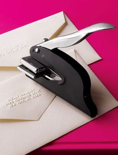 This is a great idea for photographers! Address embosser - perfect for client thank you notes or holiday cards - only $24