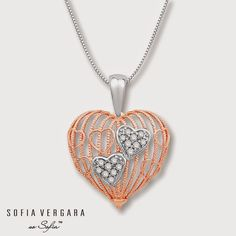"Sofia Vergara partners with Kay Jewelers for ""So Sofia"" collection. Real Gold Jewelry, Heart Jewelry, Luxury Jewelry, Diamond Jewelry, Nice Jewelry, Gold Pendent, Diamond Pendant, Bridesmaid Jewelry Sets, Sofia Vergara"