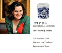 Armelle for Quintessence Paris 2014 Calendar Collection  The Sevillian (GREEN FLORAL HESPERIDE) 140g Candle  http://french-studio-imports.myshopify.com/ #FSI