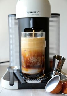 Let your Nespresso espresso machine do the hard work for you when it comes to creating this drink recipe masterpiece. Iced Coconut Caramel Mocha is sure to be a favorite of yours this summer.