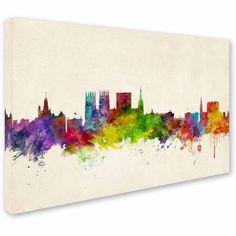 Trademark Fine Art York England Skyline Canvas Art by Michael Tompsett, Size: 12 x 19, Multicolor