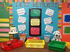 Student Self Assignment Reflection Station Classroom Setting, Classroom Setup, Classroom Design, Future Classroom, Primary Classroom Displays, Classroom Organisation, School Organization, Classroom Management, Behavior Management