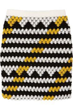 KENZO|Bobble-knit wool-blend mini skirt|NET-A-PORTER.COM