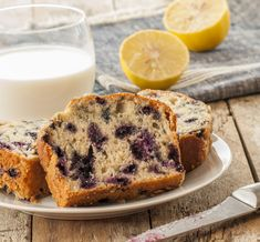 Filled with zesty lemon + blueberry goodness, this is the perfect treat for both breakfast + dessert! Lemon Blueberry Pound Cake, Lemon Yogurt Cake, Lemon Bundt Cake, Spring Desserts, Breakfast Dessert, Cake Ingredients, Cake Recipes, Yummy Recipes, Bakery