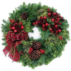 ARE FRESH CHRISTMAS WREATHS FOR YOU?Potential customers who have never actually seen one of our fresh holiday wreaths might find it helpful to know that the entire process of creating, decorating and shipping each fresh Christmas wreath is. Decorations Christmas, Christmas Door Wreaths, Noel Christmas, Country Christmas, Holiday Wreaths, Winter Christmas, Christmas Crafts, Christmas Ornaments, Holiday Decor
