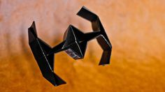 How to Make an Easy Origami Star Wars TIE Fighter These are instructions to make a cool star wars origami x-wing. It is a tutorial for how to fold the origam...