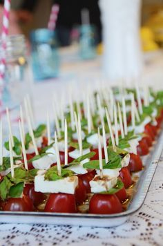 Tomato basil sandwich appetizer?
